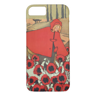 Vintage Red Riding Hood Wolf Poppy Flowers iPhone 7 Case