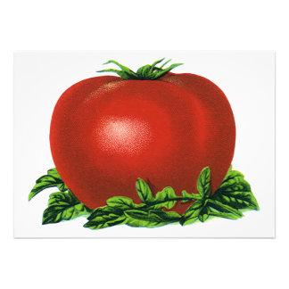 Vintage Red Ripe Tomato Food Fruits Vegetables Invite