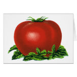 Vintage Red Ripe Tomato, Fruits and Vegetables Greeting Card