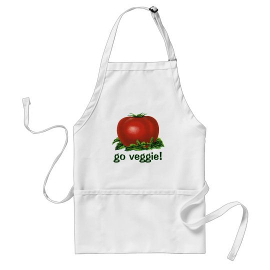 Vintage Red Ripe Tomato, Vegetables and Fruits Adult Apron