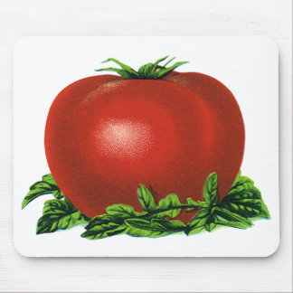 Vintage Red Ripe Tomato, Vegetables and Fruits Mouse Pad