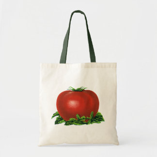 Vintage Red Ripe Tomato, Vegetables and Fruits Tote Bag