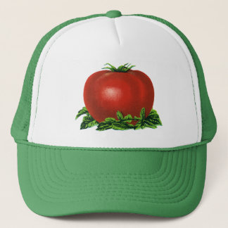 Vintage Red Ripe Tomato, Vegetables and Fruits Trucker Hat