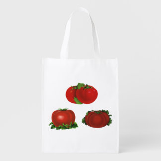 Vintage Red Ripe Tomatoes Food, Fruits, Vegetables Reusable Grocery Bag