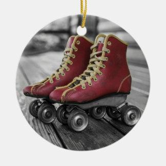 Vintage Red Roller Skates Christmas Ornament
