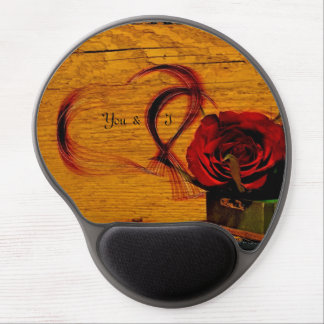 Vintage Red Rose Art Gel Mousepad