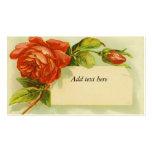 Vintage Red Rose Business Card