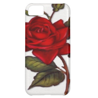 Vintage Red Rose Cover For iPhone 5C