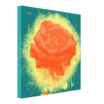 Four Blue Roses Canvas Art Print for Wall Decor and Painting Flower Canvas Art.