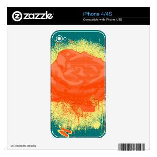 Vintage Red Rose Fine Art Decal For The iPhone 4S
