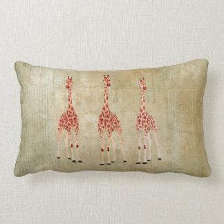 Vintage Red Rose Giraffes  MoJo Pillows