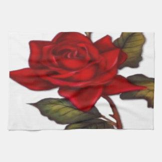 Vintage Red Rose Hand Towels