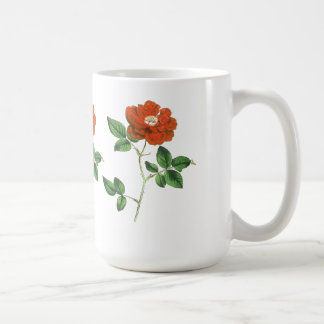 Vintage Red Rose Illustration Coffee Mug