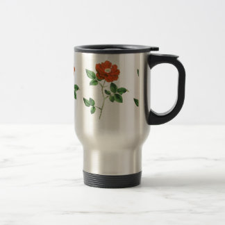 Vintage Red Rose Illustration Coffee Mugs