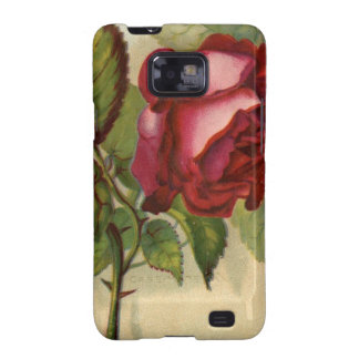 Vintage Red Rose Samsung Galaxy S2 Cover