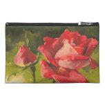 Vintage Red Rose Travel Accessories Bag