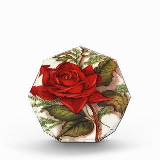 Vintage, Red Rose, Wife Birthday, Acrylic Award