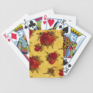 Vintage Red Roses Bicycle Playing Cards