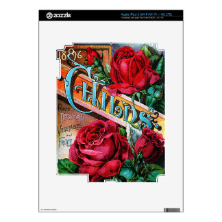 Vintage Red Roses iPad 3 Decals