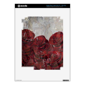 Vintage Red Roses Oil Pallete Texture iPad 3 Decals