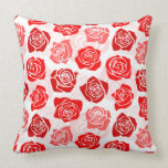 Vintage red roses Pillow