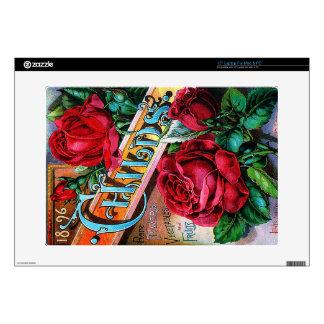 Vintage Red Roses Laptop Skins