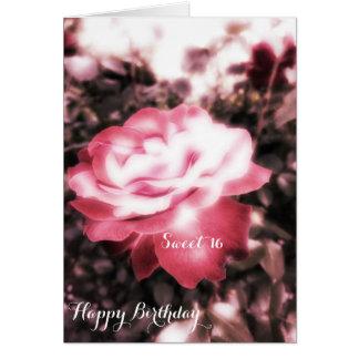 Vintage Red Roses Sweet 16 Card