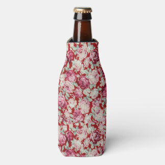 vintage red roses,victorian,floral,romantic,girly, bottle cooler