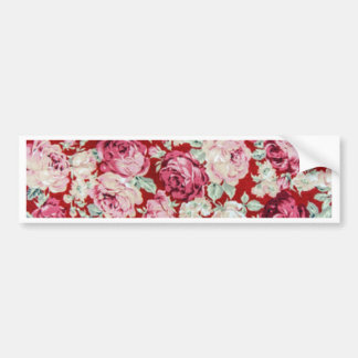vintage red roses,victorian,floral,romantic,girly, car bumper sticker