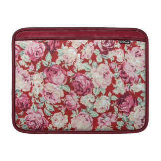 vintage red roses,victorian,floral,romantic,girly, sleeves for MacBook air