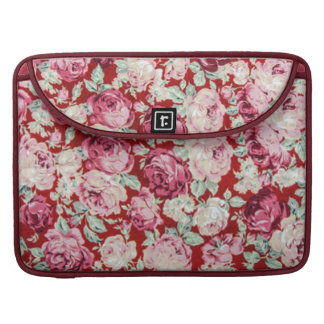vintage red roses,victorian,floral,romantic,girly, sleeves for MacBook pro