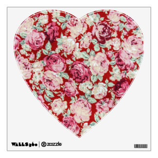 vintage red roses,victorian,floral,romantic,girly, wall sticker