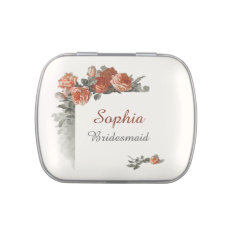 Vintage Red Roses Wedding Favor Candy Tin at Zazzle