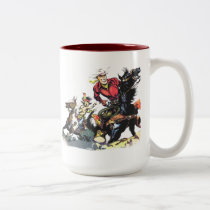 Vintage Red Ryder Gifts Two-Tone Coffee Mug