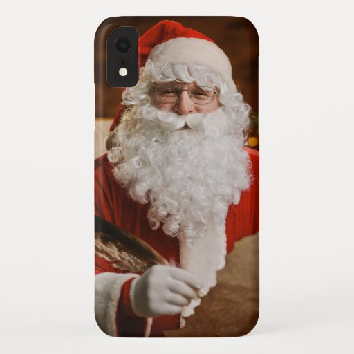 Vintage Red Santa Claus Merry Christmas iPhone XR Case