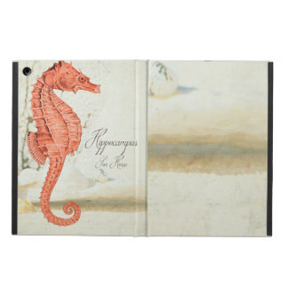 Vintage Red Sea Horse Case For iPad Air
