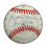 Vintage Red Stitched Baseball Sports Target Game Dart Boards