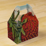 Vintage Red Strawberries Fresh Fruit Party Favor Box