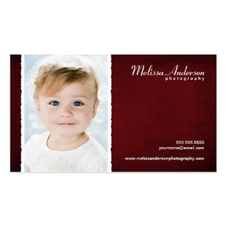 Vintage Red Studio Portrait Photographer Double-Sided Standard Business Cards (Pack Of 100)