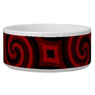 Vintage Red Swirly Texture Bowl