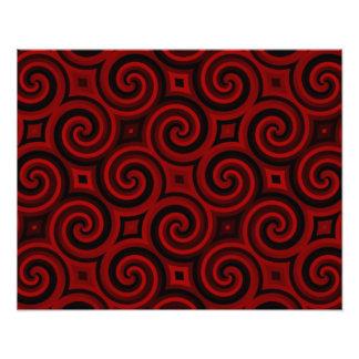 Vintage Red Swirly Texture Photo Print