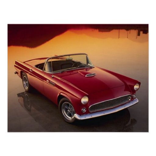 Vintage Red T-Bird Posters