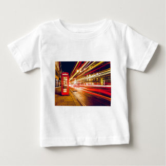Vintage Red Telephone Box at Night in London Baby T-Shirt