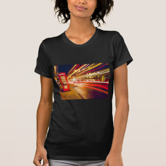 Vintage Red Telephone Box at Night in London T-Shirt