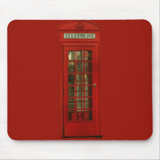 Vintage Red Telephone Box Mouse Pad