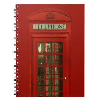 Vintage Red Telephone Box Notebook