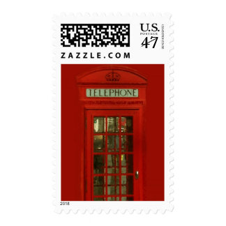Vintage Red Telephone Box Stamps