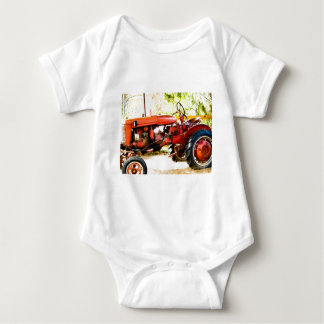 Vintage Red Tractor Baby Bodysuit