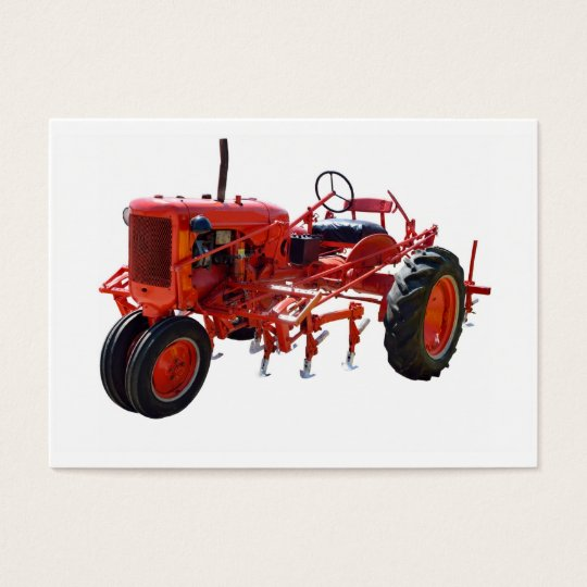 Vintage Red Tractor Business Card