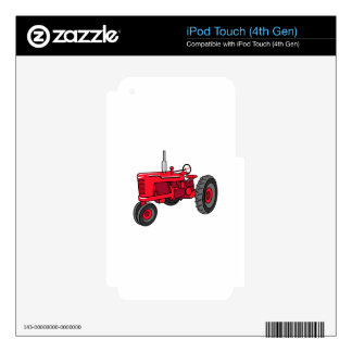 Vintage Red Tractor iPod Touch 4G Skins